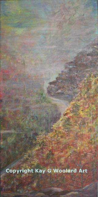 Mountain Mist 24 x 12 acrylic painting