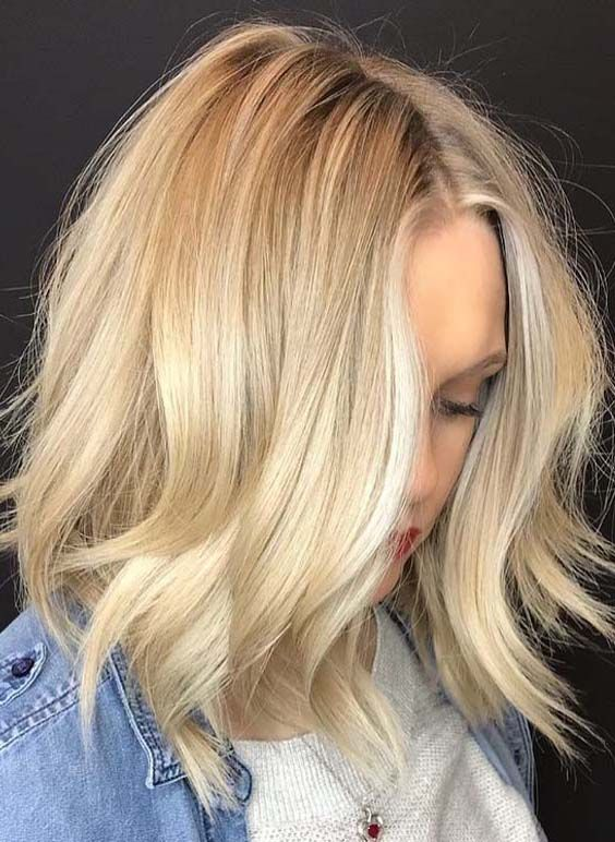 33 Best Short Blonde Middle Parted Hairstyles In 2018 Hair Styles Beautiful Blonde Hair Short Hair Trends