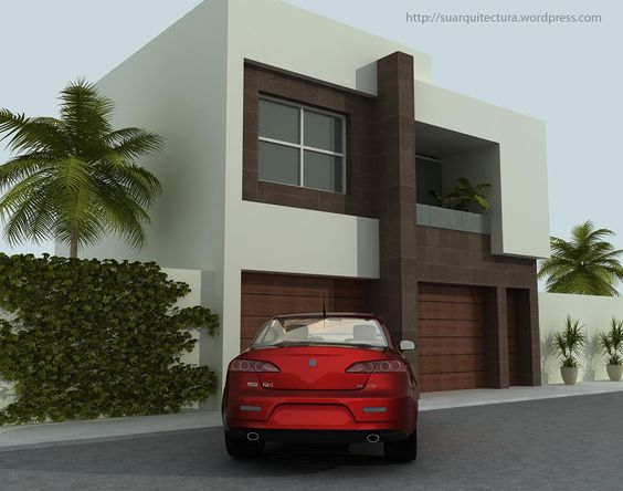 Fachadas minimalistas fachada minimalista con s tano com ...