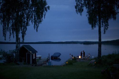 summer evening by the water