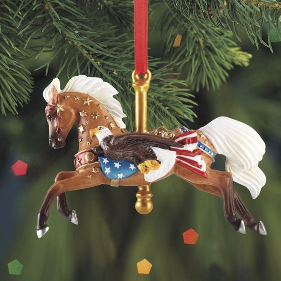 Breyer patriot carousel horse ornament 2013 carousels 2 List of christmas ornaments