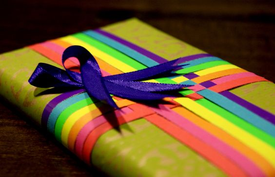 Colorful giftwrap