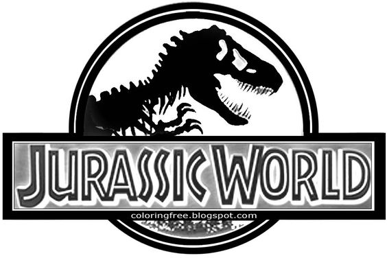 Prehistoric Jurassic World Dinosaurs Park Logo Teenage Science Fiction Movie Free Coloring Book Page Jpg 900 600 Jurassic World Jurassic Park Jurassic
