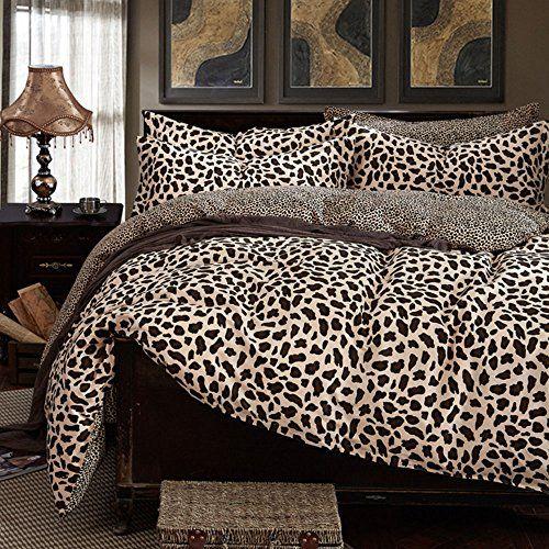 100 Cotton Leopard Print Bedding Set Sexy Leopard Bedding Sets