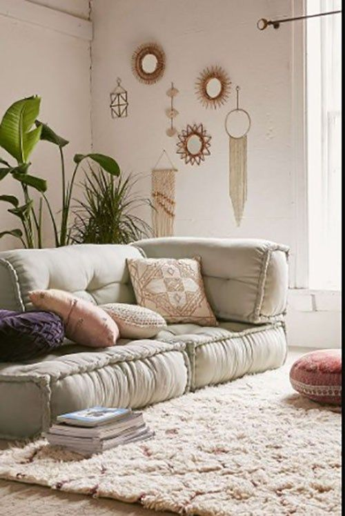 For Those Of You That Have A Small House And Few Futon Couch Can Be The Ideal Soluti College Apartment Living Room Living Room Decor Apartment Boho Living Room