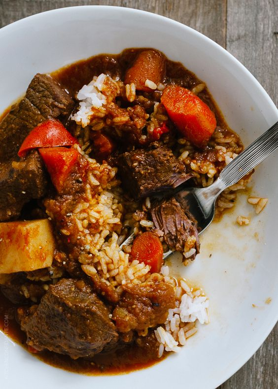 Mechado - Filipino Beef Stew | www.kitchenconfidante.com | When you're craving stick to your ribs comfort food, make this Filipino stew.