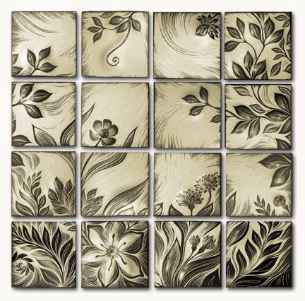 Natalie Black - handmade, ceramic wall art and backsplash tile