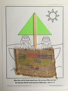 Jesus calls fishermen to be his disciples craft/activity page with printable.