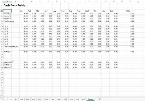 Free Excel Cash Book Template Spreadsheet Template Accounting