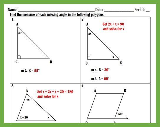 4th Grade Geometry Geometry Worksheets Math Geometry Triangle Worksheet