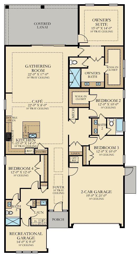Abaco New Home Plan In Beachwalk Dorado By Lennar New House Plans Family House Plans House Plans