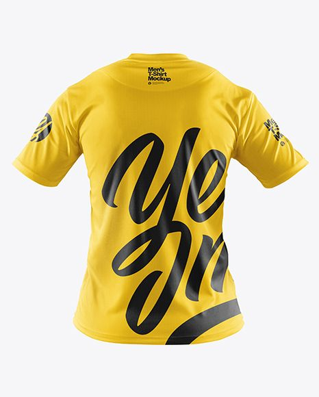 Download Men S T Shirt With Mini Eyelet Fabric Mockup In Apparel Mockups On Yellow Images Object Mockups Clothing Mockup Shirt Mockup Design Mockup Free
