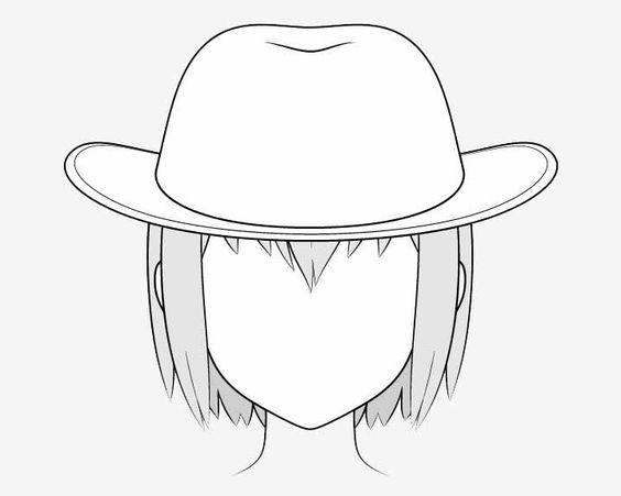 Vẽ nón cao bồi anime