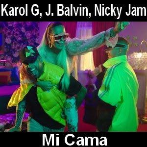 Karol G J Balvin Mi Cama Ft Nicky Jam Letras Y Acordes Letras De Música Trucos Para Whatsapp