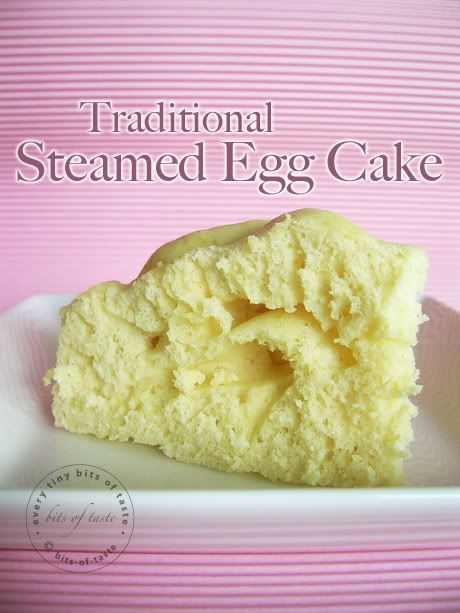 Steamed egg cake or 雞蛋糕 is one of the Chinese traditional snack ...