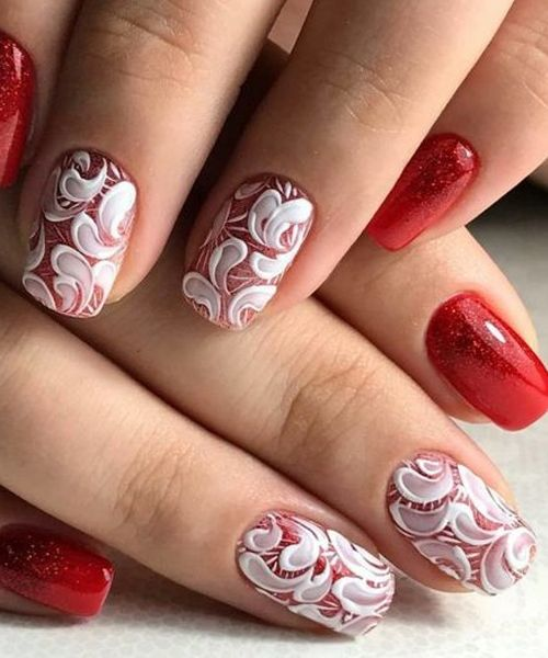 New Fabulous White And Red Wedding Nail Art Designs To Look Perfect On Your Big Day Wedding Nail Art Design Red Wedding Nails Spring Gel Nails Ideas