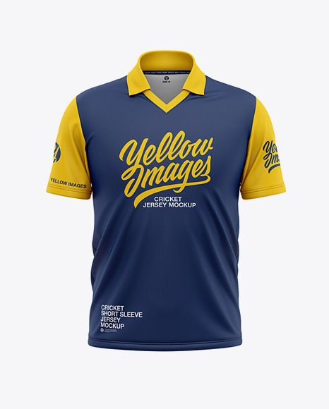 Download Men S Regular Short Sleeve Cricket Jersey Polo Shirt Front View Of Soccer Jersey In Apparel Mockups On Yellow Images Object Mockups Shirt Mockup Clothing Mockup Design Mockup Free