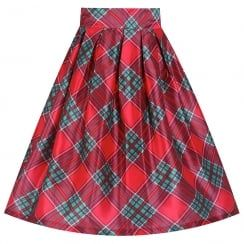 'Marnie' Red Tartan Occasion Skirt