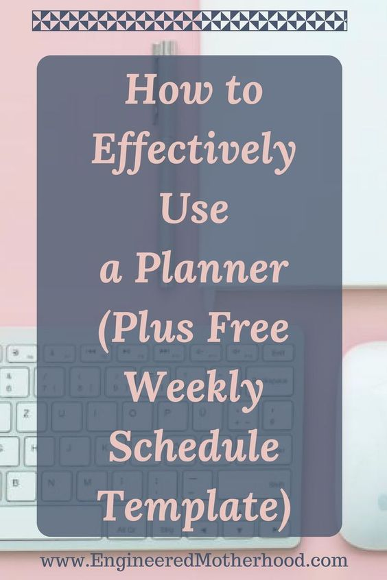 How to Use a Planner Plus Free Weekly Schedule Template Schedule - weekly schedule template