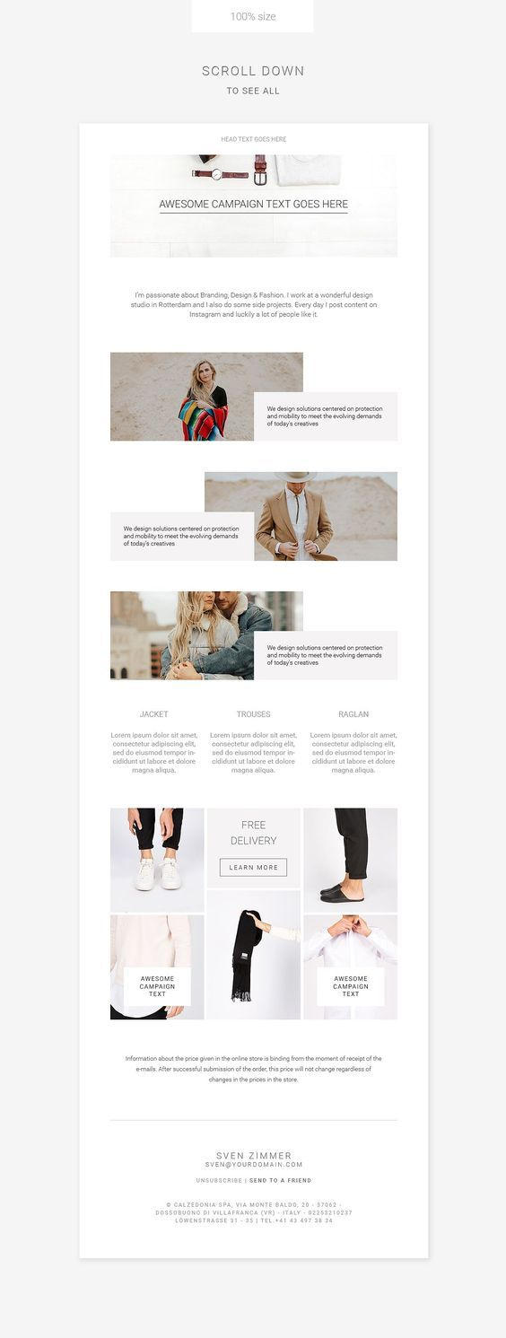 Clean E Newsletter Pack Email Marketing Design Inspiration Email Newsletter Template Newsletter Templates