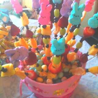 Easter Fruit Kabobs - start with a marshmallow on the ...