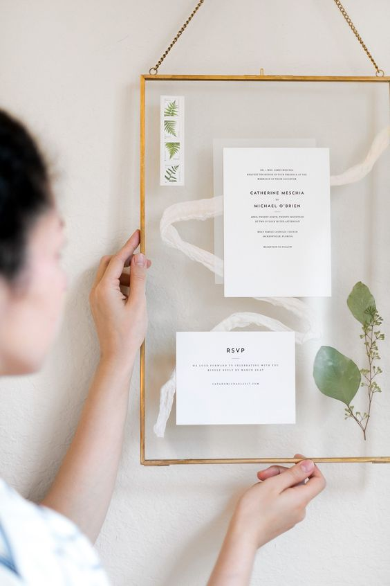 Valentine's Day Gift Idea, Framed Wedding Invitations | ctrl + curate