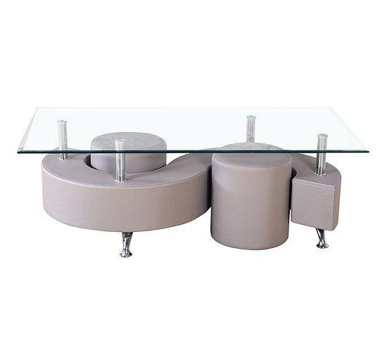 Table Basse Et 2 Poufs Alpha 2 Taupe Table Basse But En 2020 Pouf Rond Table Basse Mobilier De Cuisine