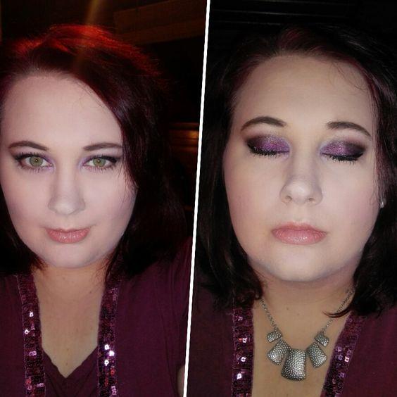Party make up (blitz wird von der foundation absorbiert deswegen ist das gesicht so hell)