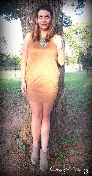 Suede My Way Dress