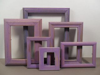 Purple Lavender Amethyst Shabby Chic Picture Frames by Elegant Seashore - eclectic - frames -  - by Etsy