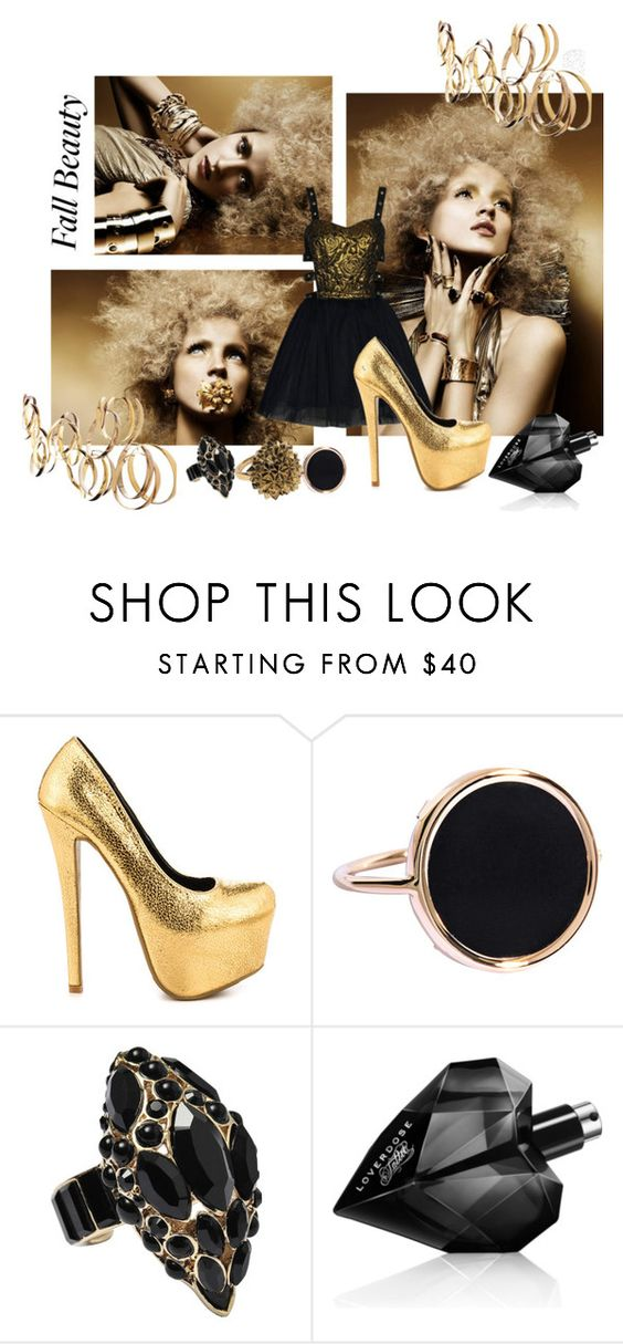 """Golden"" by hangtendude0901 ❤ liked on Polyvore featuring Boohoo, Shoe Republic LA, Ginette NY, Roberto Cavalli, House of Harlow 1960 and Diesel"