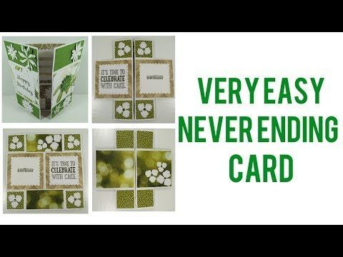 Very Easy Never Ending Card Never Ending Card Infinity Card Inspirational Cards
