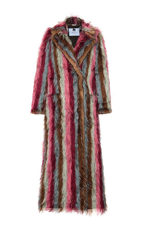 Striped Coat by BLUMARINE for Preorder on Moda Operandi