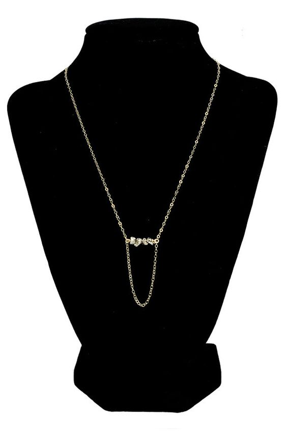 Gold Filled Swing Necklace  NE-1006N by INOCSION777 at:https://www.etsy.com/shop/INOCSION777
