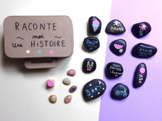 {DIY} Raconte moi une histoire!  Bricolage -> Customiser Des Galets