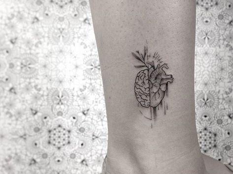 45 Trendy Tattoo Heart Brain Illustrations Brain Tattoo Tattoos Anatomy Tattoo