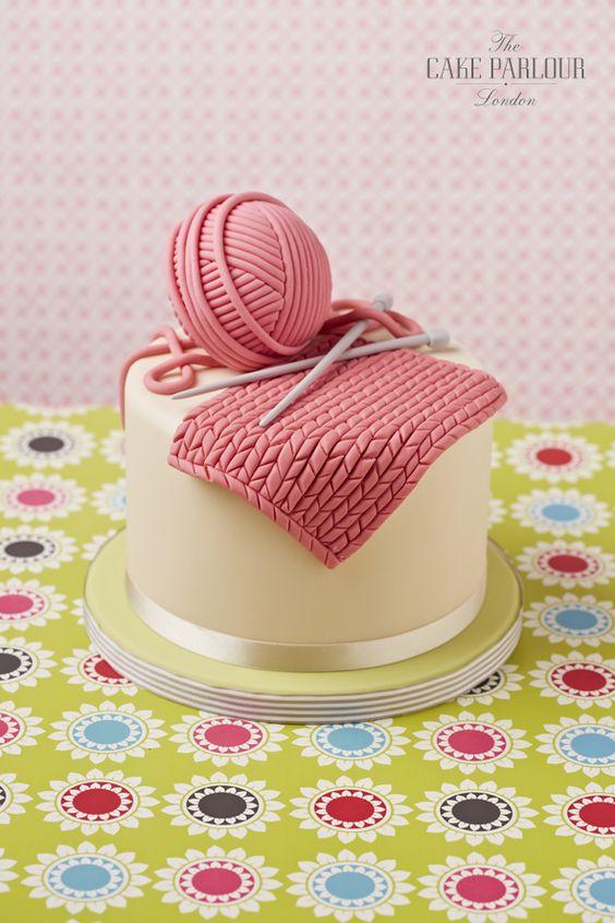 Knitting Cake   Birthday Cakes   Christening Cakes