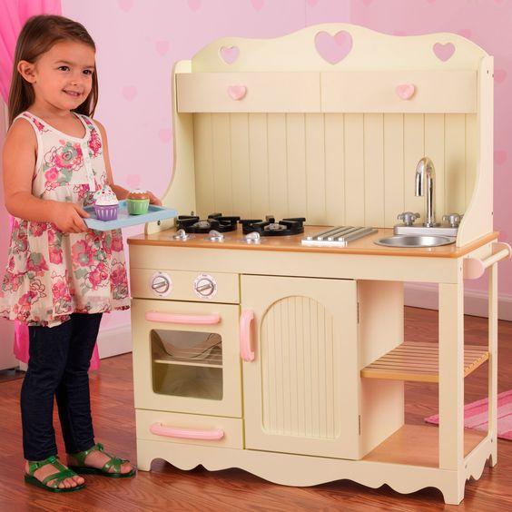 Selecci n de cocinas de juguete de madera muebles de for Cocina infantil madera