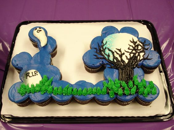Trees Halloween Scene And Tree Cakes On Pinterest