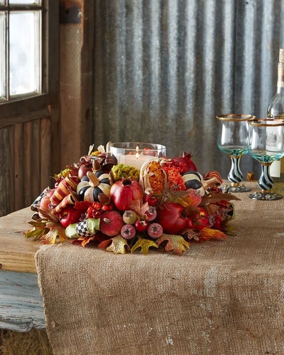 Autumn+Harvest+Candle+Centerpiece+by+MacKenzie-Childs+at+Neiman+Marcus.