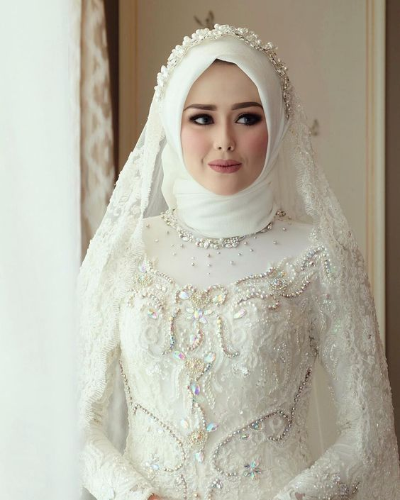 Fashion Hijab Mariage : Notre Meilleur sélection pour le jour «J» Hijab Mariage Blanc