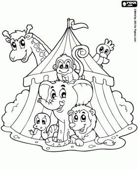 Clown Coloring Pages The Circus Coloring Pages In The Circus Coloring Book In The Circus Coloring Books Coloring Pages Animal Coloring Pages