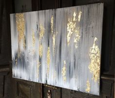 Malerei+mit+Goldfolie+-+Abstrakte+Kunst+80x60cm++von+JederMagKunst+auf+DaWanda.com