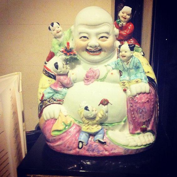 Mr. Buddha gave us some luck so we can reach home #FoodComa #lmambassador :D