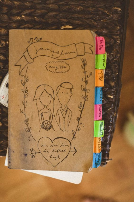 The perfect wedding notebook