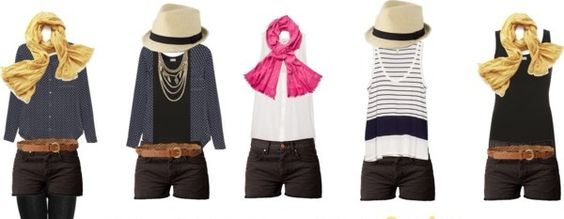 Mix and Match Outfits for Travel Using the 8 Piece Essentials Packing List