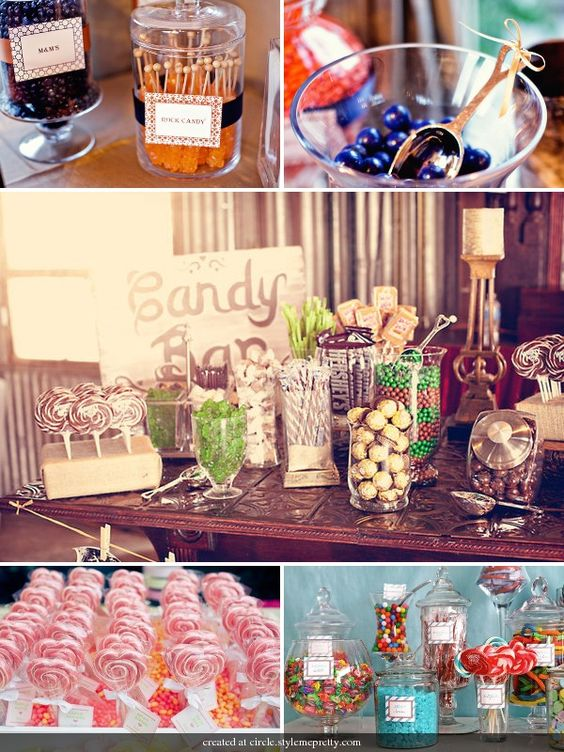 If I ever get married, I'll have a candy bar and cupcakes...  Brighter colors and way more candy of course!
