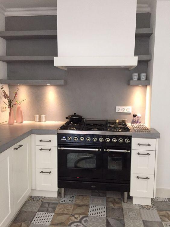 Eiken Keuken Achterwand : Betonlook keukenblad en achterwand Keukens Pinterest