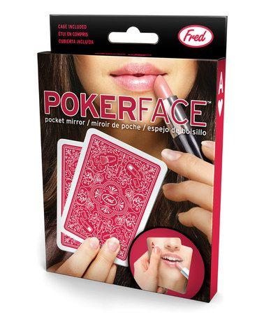 Look what I found on #zulily! Pokerface Pocket Mirror #zulilyfinds