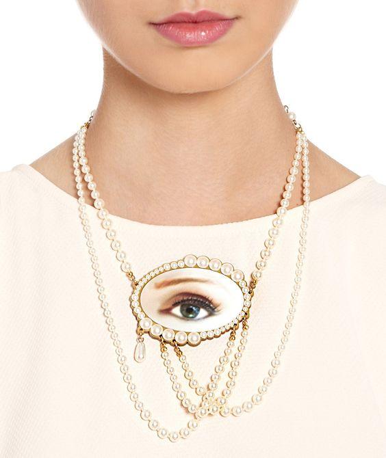 Lover's Eye Statement Necklace